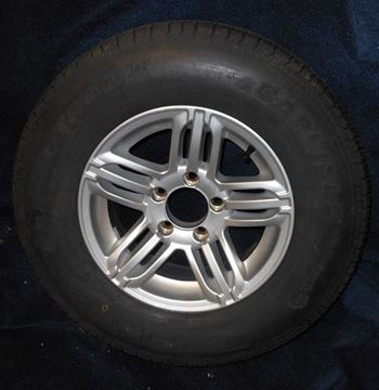 "Picture of ""Special Order""WHEEL/TIRE-ST205/75R14C ON ALUMINUM SPLIT SPOKE"