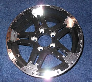 """Picture of WHEEL-15"""" BLACK TURISMO (5 HOLE)"""