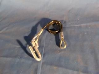 """Picture of SAFETY CABLE COILED w/S-HOOK 36"""" 5000#"""