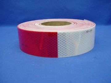 "Picture of REFECTIVE TAPE 2"" RED & WHITE SOLD / Ft."