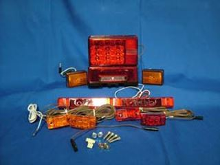 "Picture of Lighting Kit ""LED"" Galvanized Steel Fender - ""P""-Bolt No Cover"