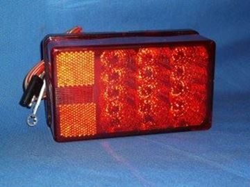 "Picture of Tail Light ""LED"" w/Plug & Fasteners (Left)"