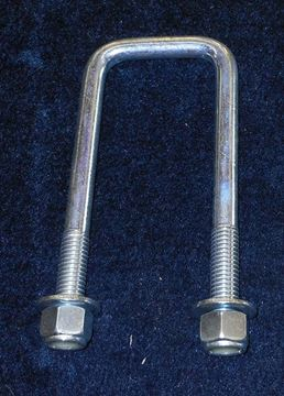 """Picture of U-BOLT-1/2"""" X 2 1/8"""" X 5 1/2"""" WITH WASHERS AND NUTS"""