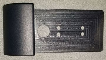 """Picture of Vanity Cover Tail Light Plate """"Black"""" (QR)"""