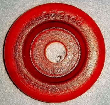 "Picture of ROLLER END CAP POLY ORNG 3"" .69"" HOLE"