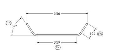 Picture of Step Fender Mounting Bracket Galv. Tri-Axle