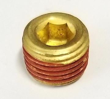 "Picture of Plug 1/8"" NPT Brass w/Vibraseal (Wheel Hub)"