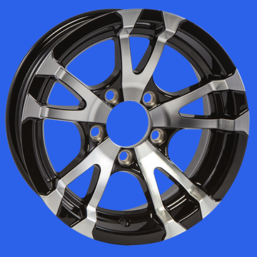 """Picture of WHEEL-15"""" BLACK AVALANCHE (5 HOLE)"""