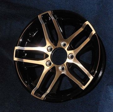"Picture of ""Special Order""WHEEL-14"" A1435  MATT BLACK ALUMINUM WHEEL"