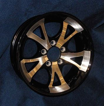 """Picture of """"Special Order""""WHEEL-15"""" A1411 BLACK ALUMINUM WHEEL (5 HOLE)"""