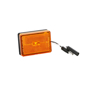 """Picture of Light LED Amber Tongue 6"""" Wire w/Plugs"""