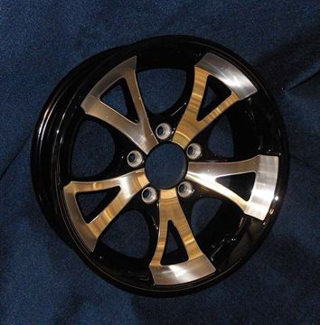 "Picture of ""SPECIAL ORDER""14"" A1411 BLACK ALUM WHEEL"